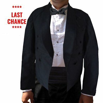 Mens Eton Jacket, Double Breasted Spencer-Style, Polyester
