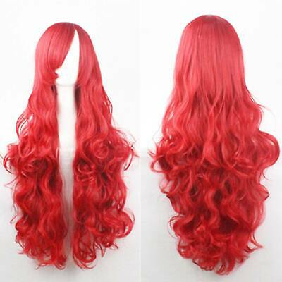 Halloween Clothing Princess Little Mermaid Ariel Red Wig Long Curly For Kids