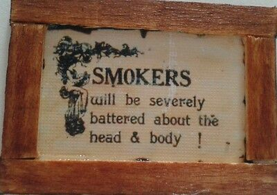 Dolls House Smokers Sign