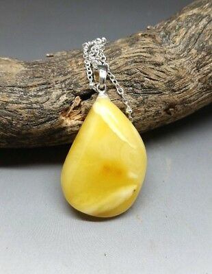 3,5 gr Genuine Natural Butterscotch Baltic Amber Pendant Necklace