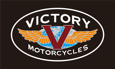 VICTORY MOTORCYCLE LOGO  3' x 5' FLAG/BANNER-$1 SHIPPING