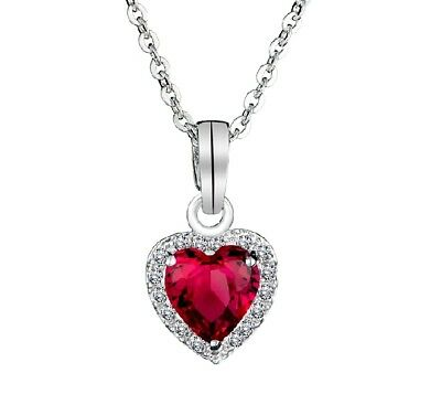 18K White Gold Plated Necklace Heart Austrian Crystal CZ Marriage Necklace Chain