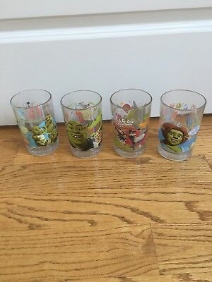 2007 Mcdonalds Dreamworks Shrek Glasses Set Of 4