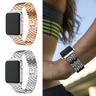 New Fitbit Versa Replacement Bling Stainless Steel Wrist Band watch Strap +Clasp