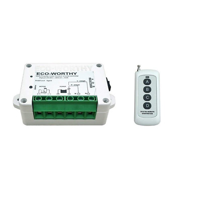 ECO-WORTHY DC 12V 24V Wireless Positive Inversion Remote Control for Motors Line