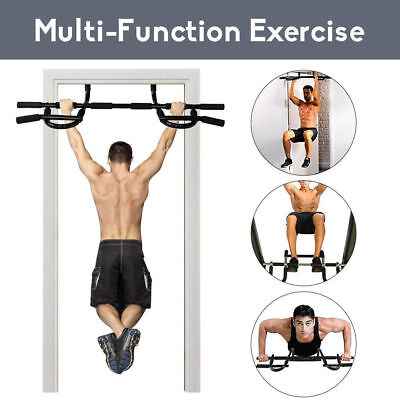 Large Exercise Fitness DOOR PULL UP BAR Chin-Up Sit-Up Strength Body Workout Gym