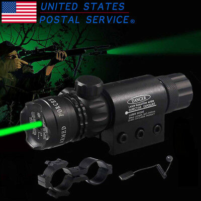 Tactical Green Laser Sight Hunting Training Remote Switch Rifle+Barrel Mounts