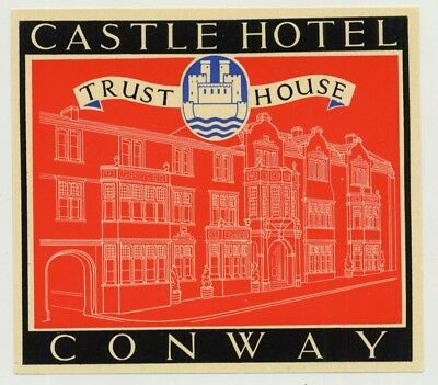 Castle Hotel (Trust House) - Conway / Great Britain (Vintage Luggage Label 1950s