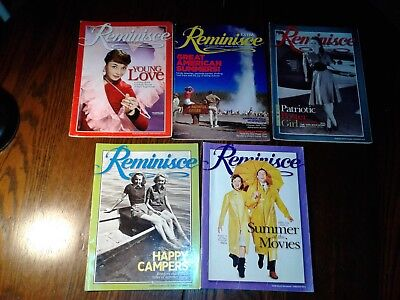 Reminisce Magazine Lot Of 5 Issues