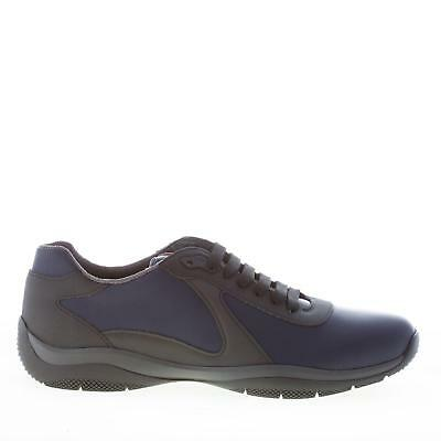 9e77f694d27 PRADA chaussures homme men shoes blue and grey leather sneaker  4E30753N0OF0216
