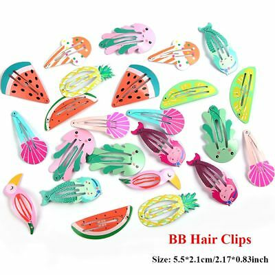 6 Pcs/set Mermaid Kids Hair Accessories Girls BB Hair Clips Kids Baby Hairpins