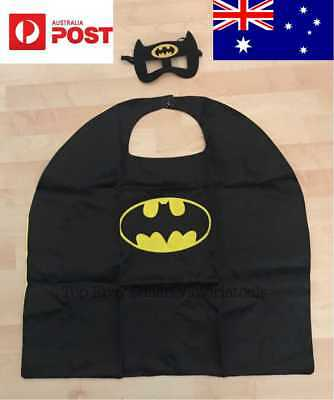 Kid Batman Costume Cape+Mask Boy Halloween Birthday Party Superhero Marvel outfi