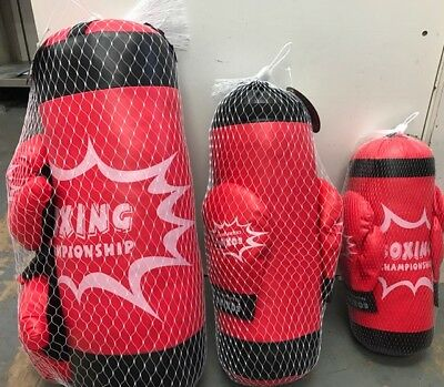 Kids BOXING SET Punch Bag & Gloves Kit Child Exercise Birthday Gift Toy
