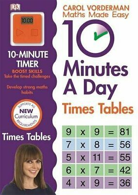 10 Minutes A Day Times Table Made Easy Wo by Carol Vorderman New Paperback Book