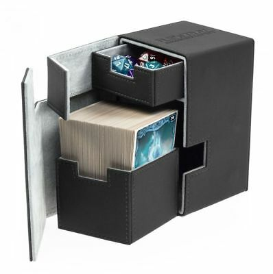 Ultimate Guard - Flip'N'Tray Xenoskin Deck Case 100+ Black Gaming Card Deck Box