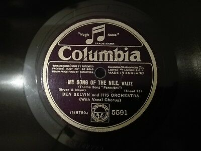 78obrotów Ben Selvin - My Song Of The Nile / Am I Blue? Columbia 5591 szelak