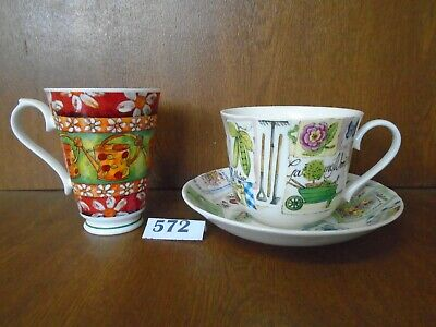 Roy Kirkham MY GARDEN - Breakfast Tea Cup & Saucer & Gardening Time Coffee Mug