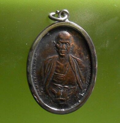 Perfect! Old Amulet Lp Krubasrivichai Very Rare From Siam !!!