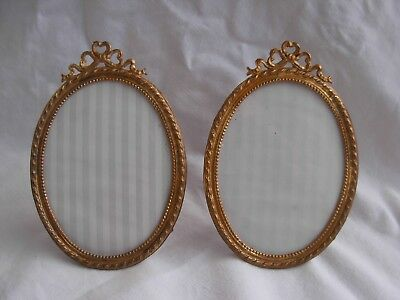 PAIR OF ANTIQUE FRENCH GILT METAL PHOTO FRAME,LATE 19th CENTURY.