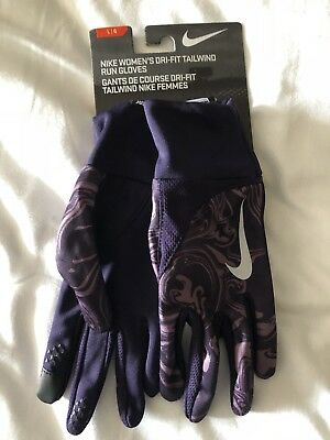 Nike Womens Dri Fit Tailwind Running Gloves (Large)
