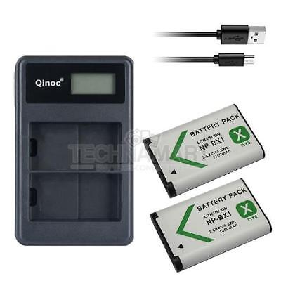 Dual USB Charger + 2X Battery NP-BX1 For Sony HDR-GW66VE HDR-GWP88 HDR-GWP88E