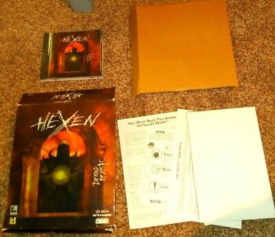 Hexen Beyond Heretic, PC CD-ROM, 1995 complete BIG BOX