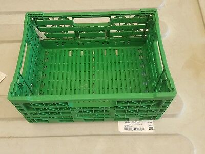 20 x Heavy Duty Collapsible Storage Crate 30x40x18cm Industrial Plastic Boxes