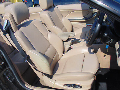 Bmw E46 3 Series Convertible 96 03 Full Leather Interior Cards Front Seats Beige