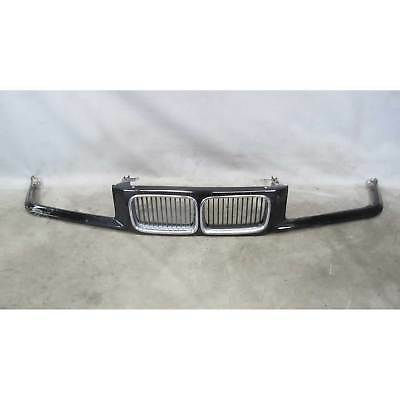 1992-1996 BMW E36 3-Series Early Front Nose Panel Kidney Grilles Black 2 Trim OE