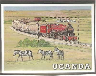 1988   UGANDA  -  SG  MS  619a  -  CLASS 31  STEAM LOCOMOTIVE  -  UMM