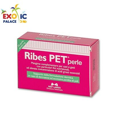 Ribes Pet 30 Perle / 60 Recovery Per Cani Gatti Mangime Complementare Dermatite