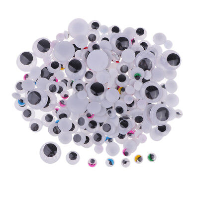 250x Assorted Size Color Eyelash Googly Eyes Wiggle Eye for Scrapbooking DIY