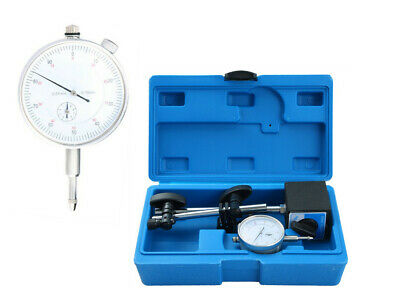 Test Precision Measuring Dial Indicator Gauge Magnetic Base Set Resolution 0.001