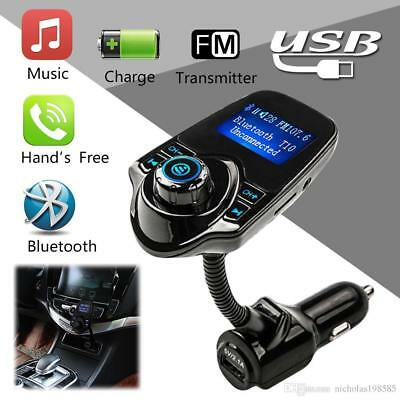 FM Transmitter car mp3 player Bluetooth wireless Radio Adapter USB Charger T10