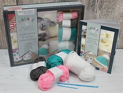 Crochet Beginners Starter Kit Baby Projects with Wool Hook Needle & Instructions