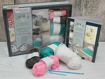 Knitting Starter Beginners Kit with Bamboo Needles, Wool & Instructions