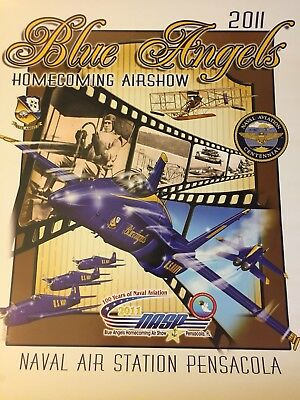 UNITED STATES NAVY BLUE ANGELS   2011 Homecoming Poster
