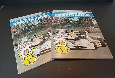 Lot of 2 THE HEAVILY CENSORED HISTORY OF HESKETH RACING - JAMES HUNT