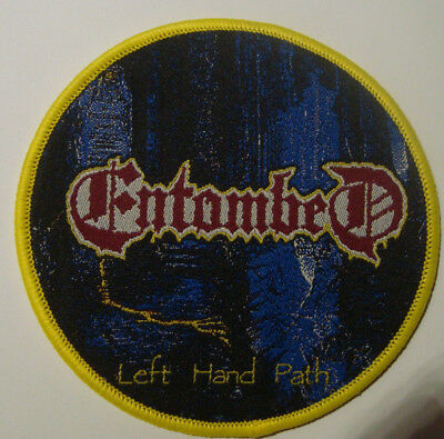 ENTOMBED - LEFT HAND PATH WOVEN PATCH MORBID ANGEL GRAVE DISMEMBER Asphyx