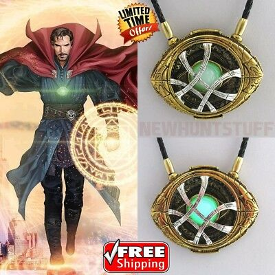 Dr Doctor Strange Pendant Eye of Agamotto GLOW IN THE DARK Necklace 7 CM