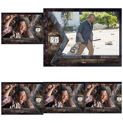 INTO THE HUNT WAVE 3 MORGAN JONES + 4x NOAH Topps Walking Dead Trader Digital