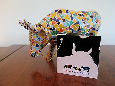 2002 COW PARADE Figurine MOOZAIC Retired #9143 Collection Estate Mosaic Tile