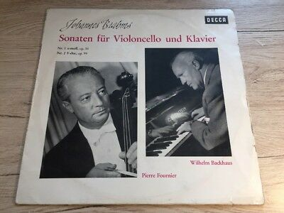 LP DECCA BLK 16186 Brahms Sonaten Cello Piano Fournier Backhaus GERMAN VINYL