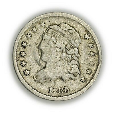 1835 Capped Bust Half Dime, Small Date Variety, Early Type Silver Coin [3803.09]