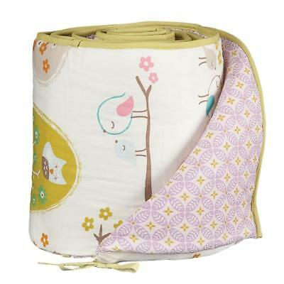 Lolli Living Love Birds Cotton Baby Crib Bumper 4-Piece New