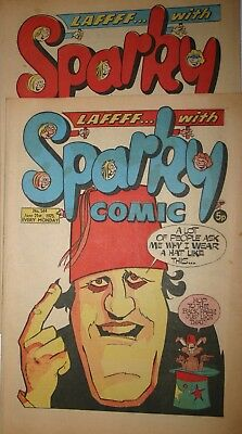 Sparky Comic Number 578  February 14th 1976 Number 544 June 21st 1975 Vintage