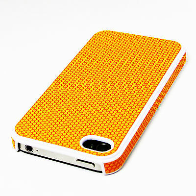 ORANGE UltraThin Hard Case PU Leather Cover Screen Protector For iPhone 4S 4 4G