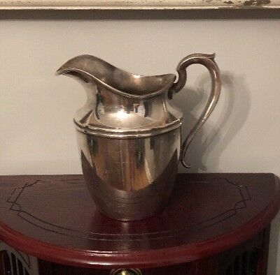 """Vintage Gorham Silver Pitcher 5 3/8"""" Pint Colonial Water Pitcher Large"""