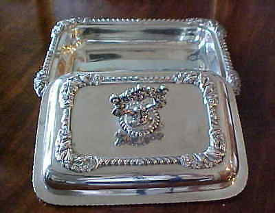 Irish Sterling Silver Covered Entrée Dish By Wm. Nolan Dublin 1822 – 81 Ounces