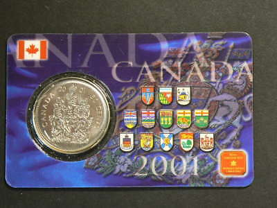 Canada 2001 P 50 Fifty Cents with Collector Card  Specimen Strike  #G7820